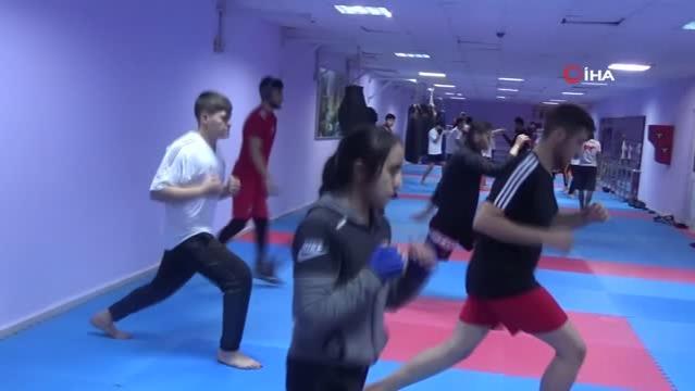 Avrupa Kupası'na hazırlanan Elazığlı kick-boksçuların hedefi şampiyonluk